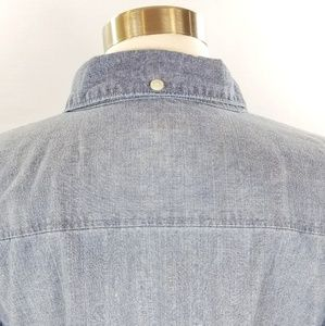 J. Crew Tops - J. Crew Factory Chambray Perfect Shirt Button Down